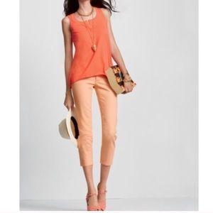 cAbi Bree Crop Capri Jeans in Creamsicle Orange
